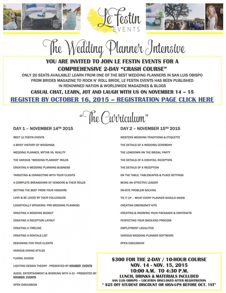 Le Festin Events - Wedding Planner Intensive